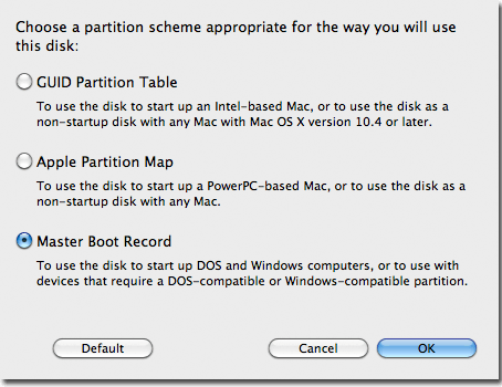 Make the partition bootable.