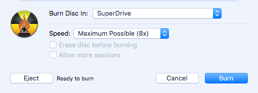 burn superdrive
