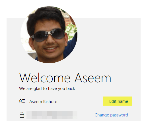 change microsoft account