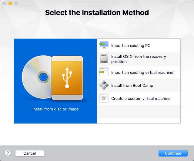 choose installation method