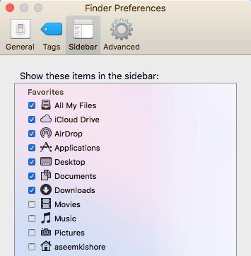finder preferences