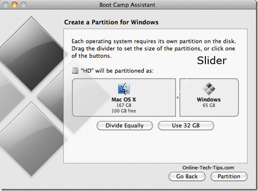 partition your drive