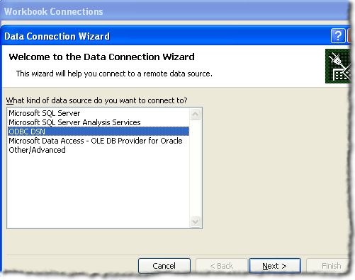 Connecting Excel to MySQL