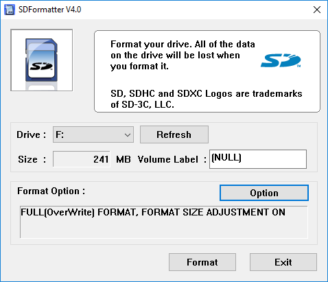 Format an SD Card the Easy Way