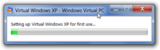 virtual machine creating screen