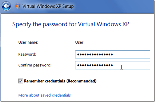 virtual machine password