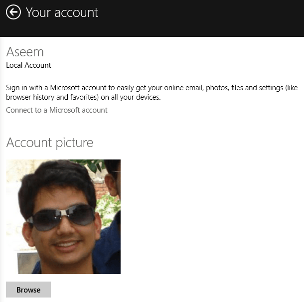 windows 8 account picture