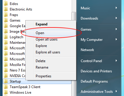 Easily Add Programs to Windows 7 Startup Folders