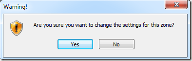 IE8 Change Settings for This Zone