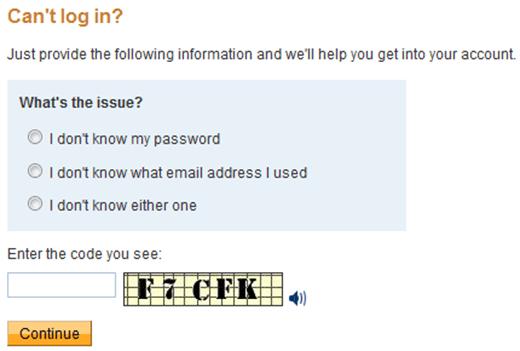 paypal login help