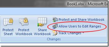 Cho phép người sử dụng để chỉnh dãy trong Excel 2007