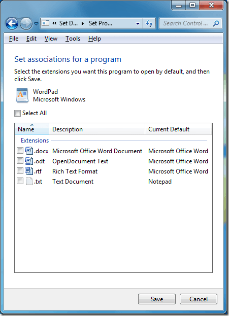 how to add a default program in windows 10