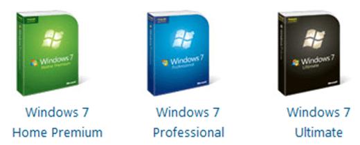 windows 7 version comparison home professional ultimate