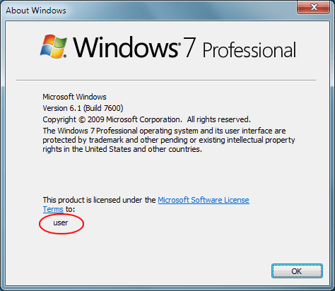 Change the Registered Owner Name in Windows 7/8/10