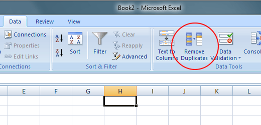 Automatically Remove Duplicate Rows in Excel