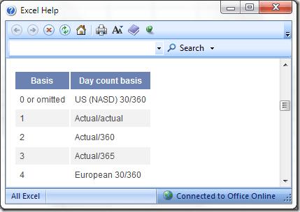 la Ayuda de Excel con YEARFRAC Función