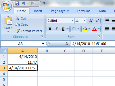 Quickly Add Date and Time Stamps to an Excel Worksheet