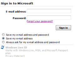 Sign in to Microsoft