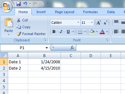 how to subtract dates in excel. Black Bedroom Furniture Sets. Home Design Ideas