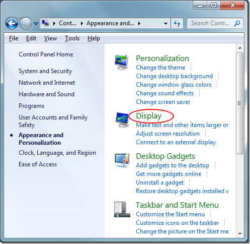 how to change windows display for split monitor