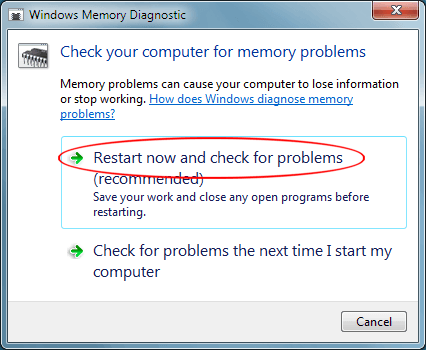 Troubleshoot RAM with Windows Memory Diagnostic Tool