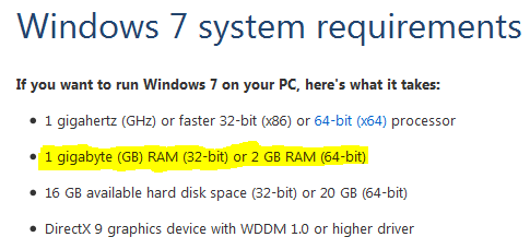 windows 7 starter cost