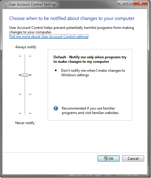 how to take control of windows 7