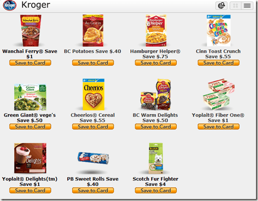 All coupons select