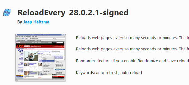 Automatically Refresh Web Pages in Your Web Browser