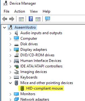 hid compliant mouse
