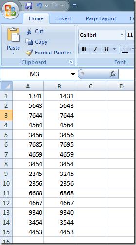 averiguar si Dos Celdas en Excel Contienen Exactamente el Mismo Número de Valores