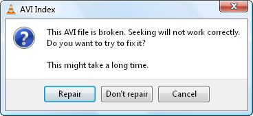VLC no puede jugar