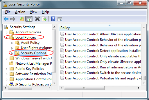 Turn Off Admin Approval Mode in Windows 7