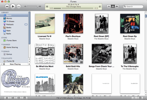 how to clear itunes library