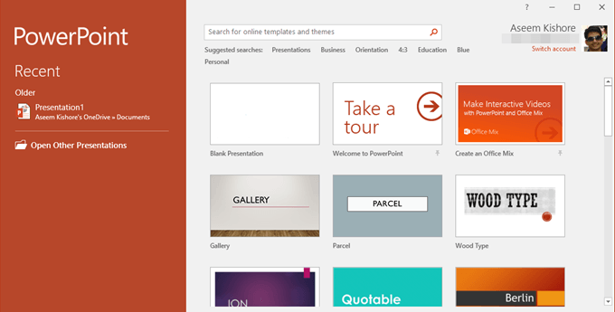 10 great websites for free powerpoint templates, Modern powerpoint