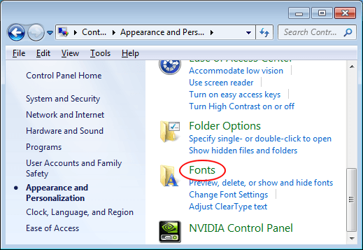 Dealing with Too Many Fonts in Windows?