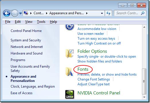 Tratar con Demasiadas Fuentes en Windows?