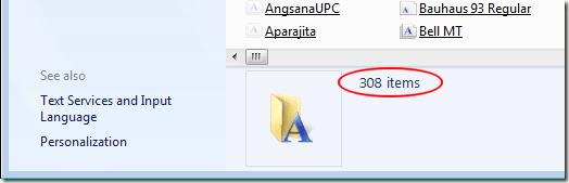 Cómo Muchas Fuentes Instaladas en Windows 7