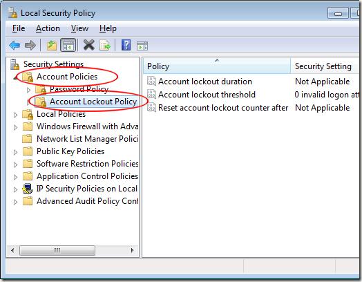 windows 7 password lock out