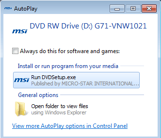 autoplay windows 7
