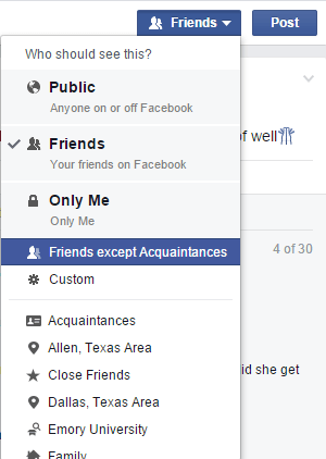 Hide Your Facebook Status From One or Specific Friends