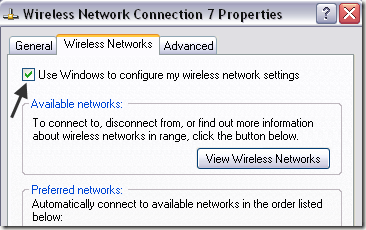 use windows wireless settings