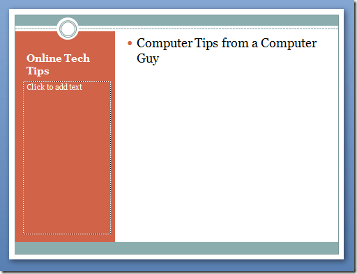 Content with Caption Layout in PowerPoint