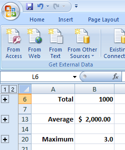 how to make a row add in openoffice