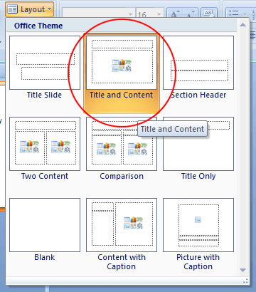 change the layout of a powerpoint slide with just a few clicks