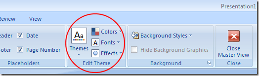 Choosing a Theme for PowerPoint Handouts