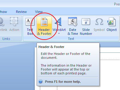 Add Headers and Footers to a PowerPoint Presentation