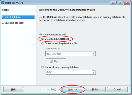 Create a New OpenOffice Base Database