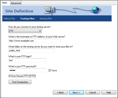 testing files