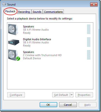 how to change application sound device